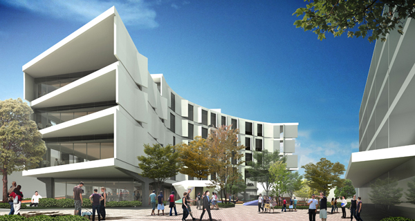 Artist impression of a curtin building